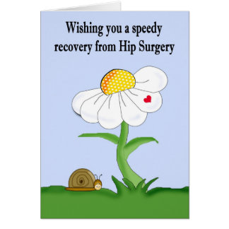 Speedy Recovery from Hip Surgery Card