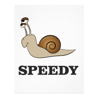speedy snail customized letterhead