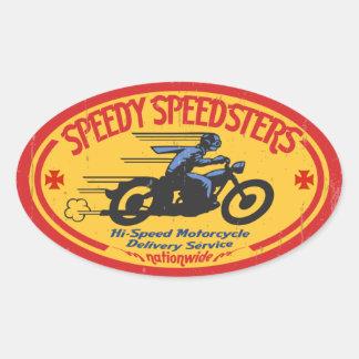 Speedy Speedsters -ov Oval Sticker