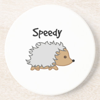 Speedy the Hedgehog Cartoon Illustration Coaster