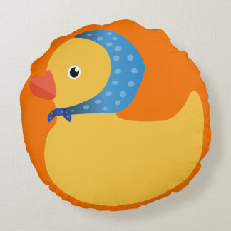 Speical Rubber duck Round Pillow