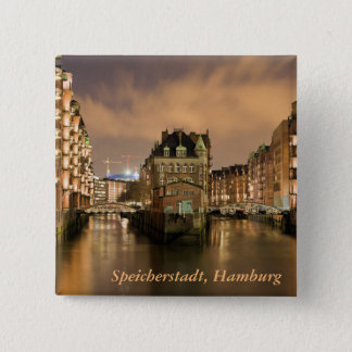 Speicherstadt, Hamburg 2 Inch Square Button