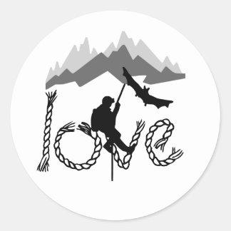 speleo mountain classic round sticker