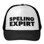 SPELING EXPIRT fun slogan trucker hat