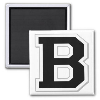 Spell it Out Initial Letter B in Black Magnet