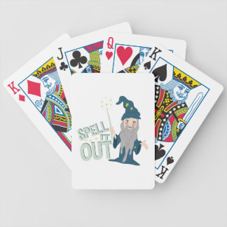 Spell It Out Poker Deck