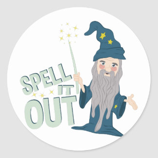 Spell It Out Round Sticker