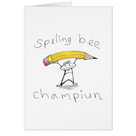 Spelling bee card