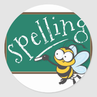 Spelling Bee Champion Classic Round Sticker