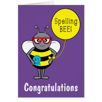 Spelling Bee Congratulations Card