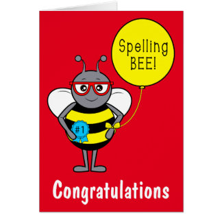 Spelling Bee Congratulations Card