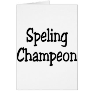 spelling champion card