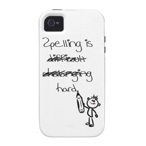 Spelling is hard. iPhone 4/4S case