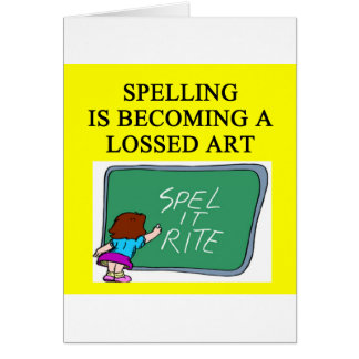 SPELLING joke Card
