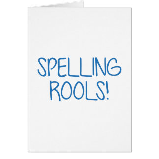 Spelling Rools! Card