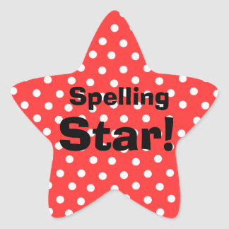 Spelling Star customizable subject stickers