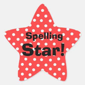 Spelling Star customizable subject stickers