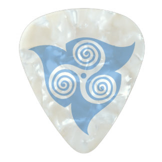 Spellstone Triskele III Pearl Celluloid Guitar Pick
