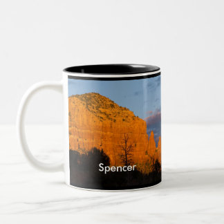 Spencer on Moonrise Glowing Red Rock Mug