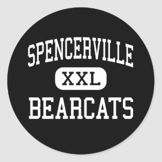 Spencerville - Bearcats - High - Spencerville Ohio Classic Round Sticker