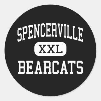 Spencerville - Bearcats - High - Spencerville Ohio Round Sticker