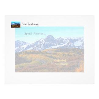 Spend Autumn in Colorful Colorado Custom Letterhead