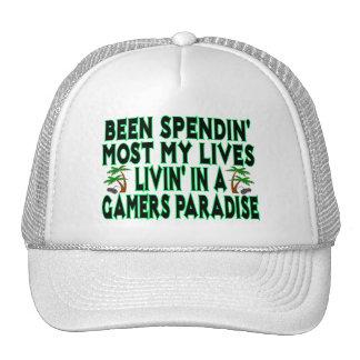 Spending Lives In Gamers Paradise Trucker Hat