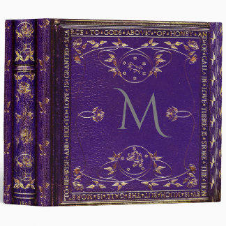 Spensar Gander Old World Monogram Vinyl Binders