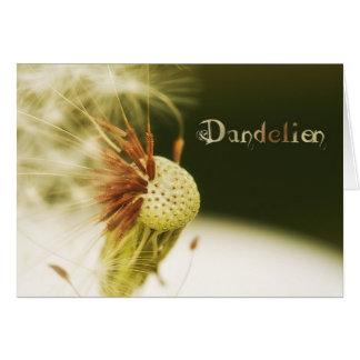 Spent Dandelion Blank Card