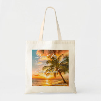Spent My Summer on Catica Island Tote Bag