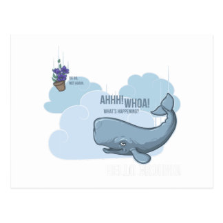 Sperm Whale and Bowl of Petunias Postcard