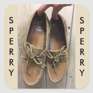 Sperry's Woody Sticker