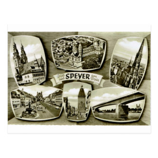 Speyer, Germany; early multiview Postcard