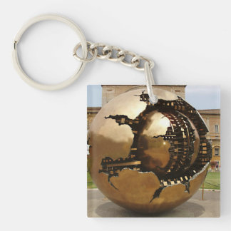 Sphere Double-Sided Square Acrylic Keychain