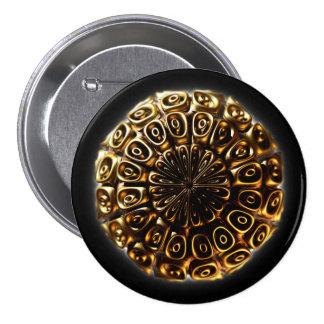 Sphere Fractal II 3 Inch Round Button
