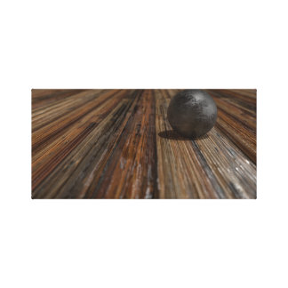 Sphere on Wood Table Canvas Print
