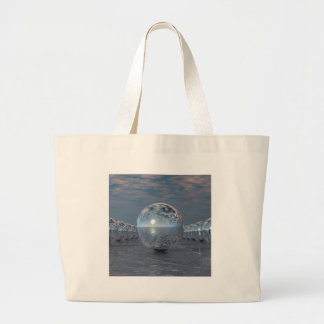 Spheres In The Sun Large Tote Bag