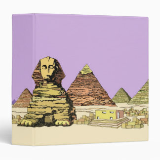 Sphinx and a Pyramid 3 Ring Binder
