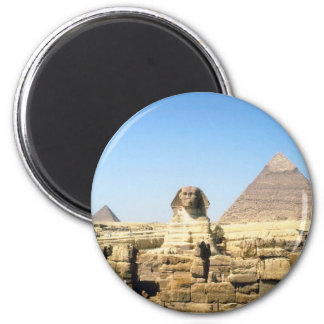 Sphinx and Pyramid Magnet