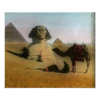 Sphinx and Pyramid Print