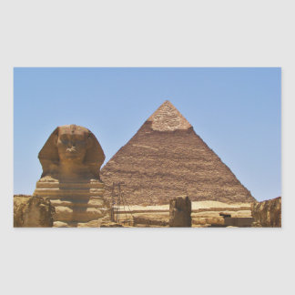 Sphinx And Pyramid Sticker