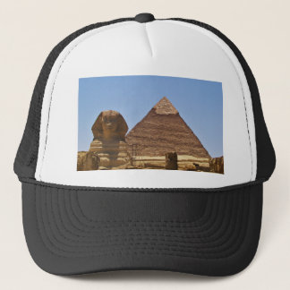 Sphinx And Pyramid Trucker Hat