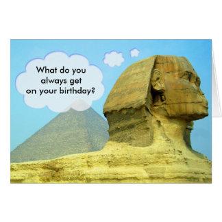 Sphinx Birthday Card