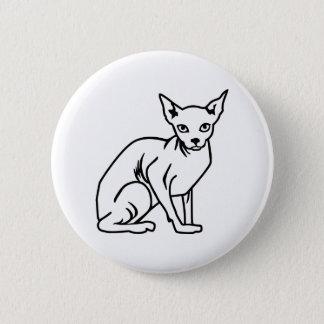 Sphinx cat 2 inch round button