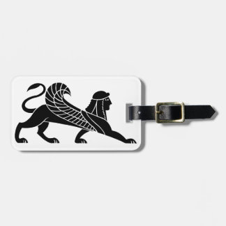 Sphinx, Greek relief design Luggage Tag