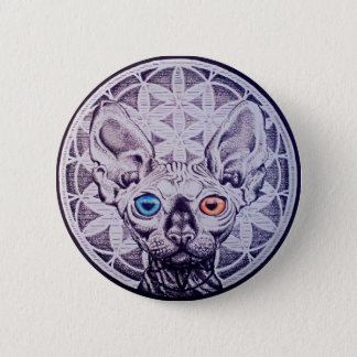 Sphinx Mandala 2 Inch Round Button