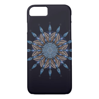 Sphinx Moth Blue Pattern Mandala Phone Case