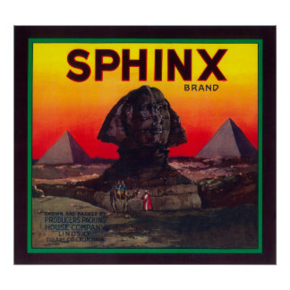 Sphinx Orange LabelLindsay, CA Poster