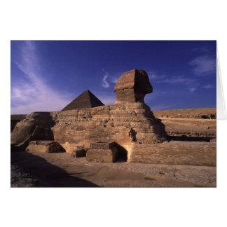 Sphinx Pyramid at Giza Card