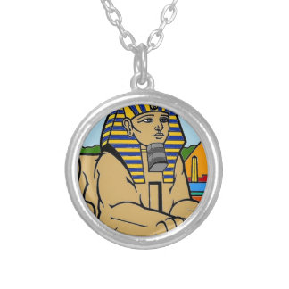Sphinx Silver Plated Necklace